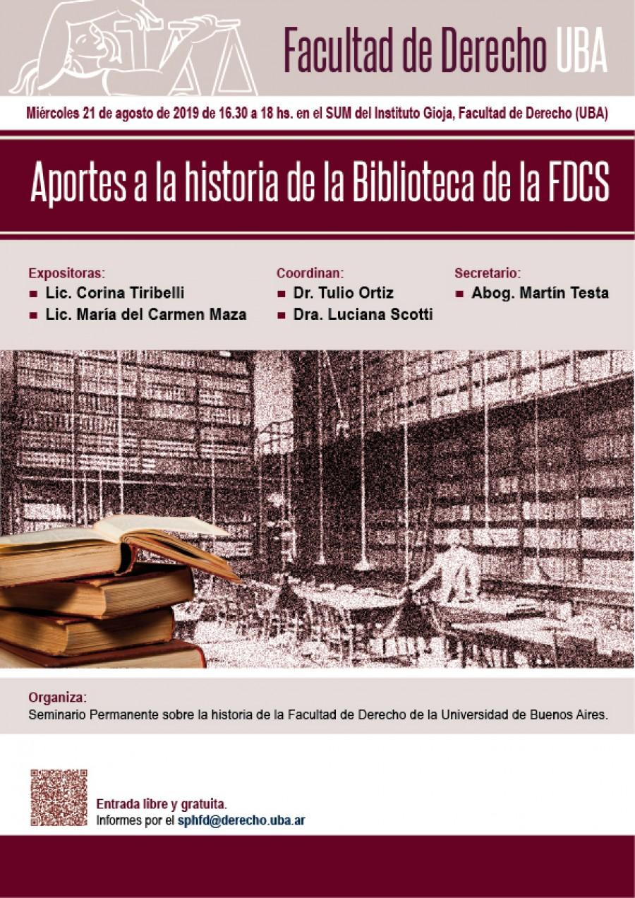 Aportes a la historia de la Biblioteca de la Facultad de Derecho