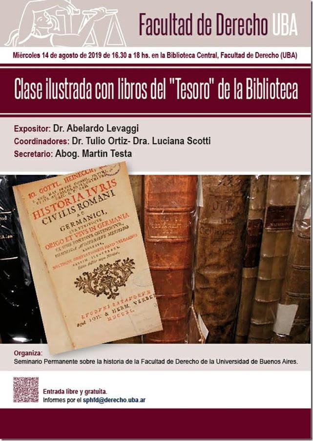 Clase ilustrada libros del Tesoro de la Biblioteca