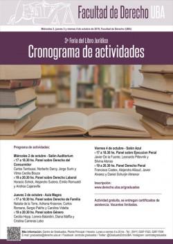 3º Feria del Libro jurídico - Cronograma de actividades