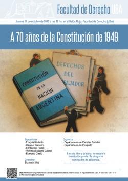 A 70 años de la Constitución de 1949