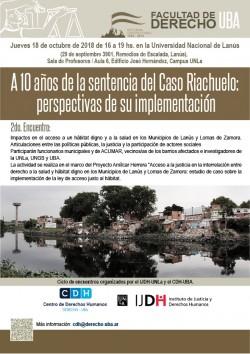 A 10 años de la sentencia del Caso Riachuelo: perspectivas de su implementación