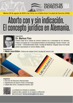 Aborto con y sin indicación. El concepto jurídico en Alemania