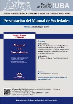 Presentación del Manual de Sociedades