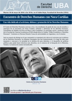 Encuentro de Derechos Humanos con Nora Cortiñas