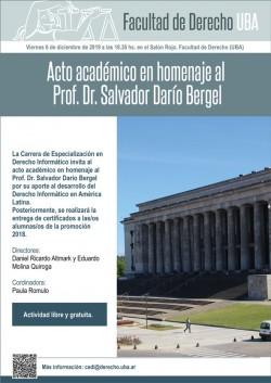 Acto académico en homenaje al Prof. Dr. Salvador Darío Bergel
