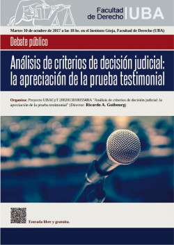 Análisis de criterios de decisión judicial: la apreciación de la prueba testimonial
