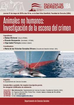 Animales no humanos: Investigación de la escena del crimen
