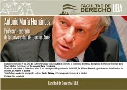 Antonio María Hernández, Profesor Honorario de la UBA