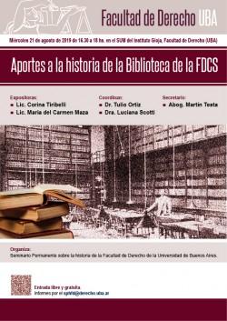 Aportes a la historia de la Biblioteca de la FDCS