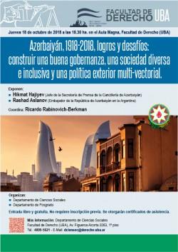Azerbaiyán, 1918-2018, logros y desafíos: construir una buena gobernanza, una sociedad diversa e inclusiva y una política exterior multi-vectorial