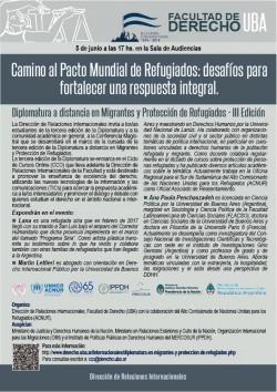 Camino al pacto mundial de refugiados: desafíos para fortalecer una respuesta integral. Conferencia magistral sobre migrantes y protección de refugiados