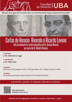 Cartas de Horacio Rivarola a Ricardo Levene