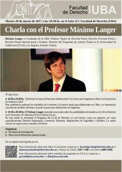Charla con el Profesor Máximo Langer