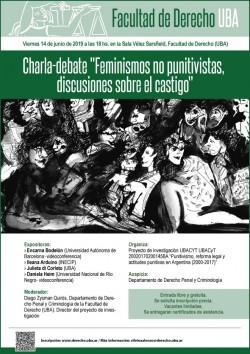 """Charla-debate """"Feminismos no punitivistas, discusiones sobre el castigo"""""""