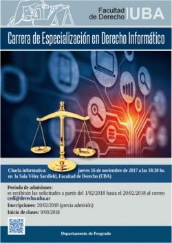 Charla informativa de la carrera de especialización en Derecho Informático