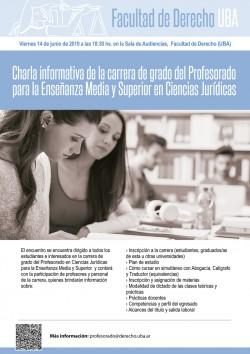 Charla informativa de la carrera de grado del Profesorado para la Enseñanza Media y Superior en Ciencias Jurídicas