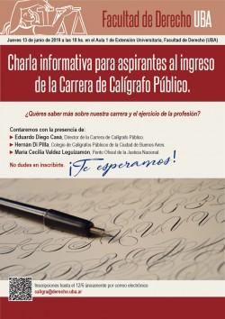Charla Informativa para aspirantes al ingreso de la Carrera de Calígrafo Público