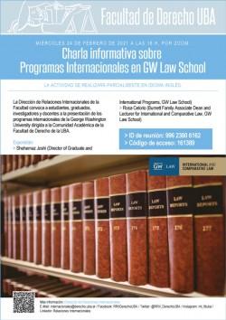 Charla informativa: Programas Internacionales en GW  Law School