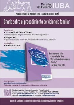 Charla sobre el procedimiento de violencia familiar