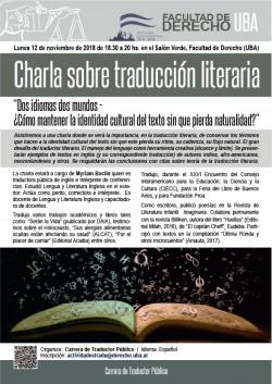 Charla sobre traducción literaria
