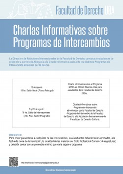 Charlas informativas sobre programas de intercambios