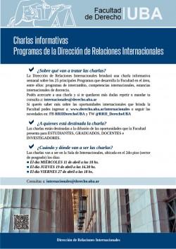 Charlas informativas sobre Programas de la Dirección de Relaciones Internacionales