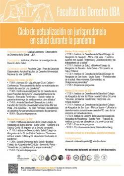 Ciclo de actualización en jurisprudencia en salud durante la pandemia