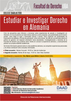 Ciclo de charlas 2019: Estudiar e investigar Derecho en Alemania