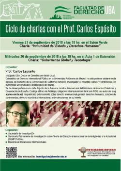 Ciclo de charlas con el Prof. Carlos Espósito