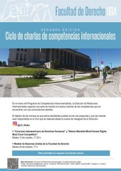 Ciclo de charlas de competencias internacionales - Segunda edición