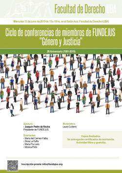 """Ciclo de conferencias de miembros de FUNDEJUS """"Género y Justicia"""""""