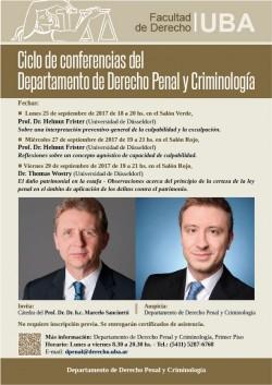 Ciclo de conferencias del Departamento de Derecho Penal y Criminología