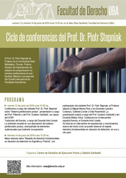 Ciclo de conferencias del Prof. Dr. Piotr Stepniak