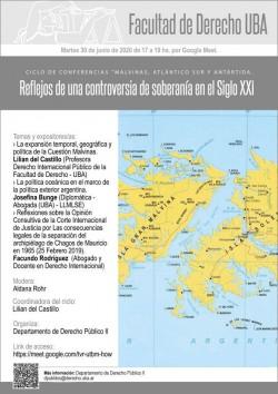 """Ciclo de conferencias """"Malvinas, Atlántico Sur y Antártida. Reflejos de una controversia de soberanía en el Siglo XXI"""""""