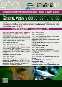 Ciclo de conferencias Norberto Bobbio sobre Justicia y Derecho de la Vejez - 7° edición - Género, vejez y derechos humanos