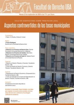 Ciclo de disertaciones sobre tributación local: Aspectos controvertidos de las tasas municipales