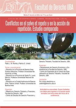 Ciclo de disertaciones sobre tributación local. Conflictos en el solve et repete y en la acción de repetición, estudio comparado