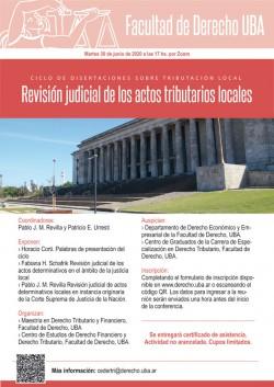 Ciclo de disertaciones sobre tributación local. Revisión judicial de los actos tributarios locales