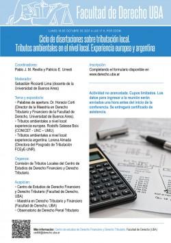 Ciclo de disertaciones sobre tributación local. Tributos ambientales en el nivel local. Experiencia europea y argentina