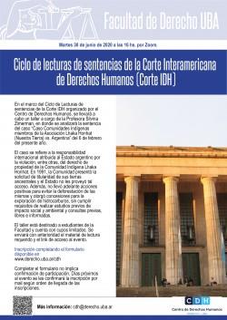 Ciclo de lecturas de sentencias de la Corte Interamericana de Derechos Humanos (Corte IDH)
