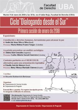 """Ciclo """"Dialogando desde el sur"""". Primera sesión de enero 2018"""