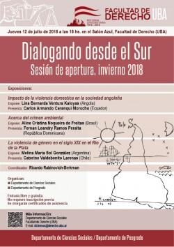 """Ciclo """"Dialogando desde el Sur"""". Sesión de apertura, invierno 2018"""