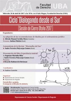 """Ciclo """"Dialogando Desde el Sur"""" (Sesión de Cierre Otoño 2017)"""