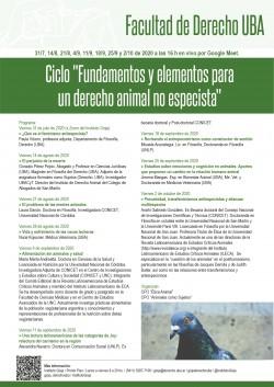 """Ciclo: """"Fundamentos y elementos para un derecho animal no especista"""""""
