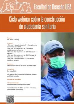 Ciclo webinar sobre la construcción de ciudadanía sanitaria