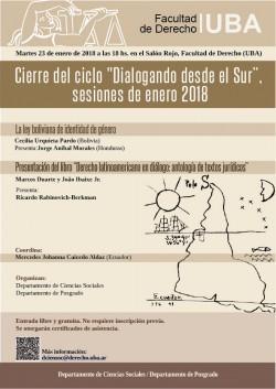 """Cierre del ciclo """"Dialogando desde el Sur"""", sesiones de enero 2018"""