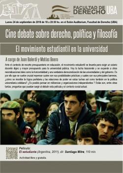 Cine debate sobre derecho, política y filosofía