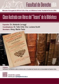 """Clase ilustrada con libros del """"Tesoro"""" de la Biblioteca"""