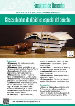 Clases abiertas de didáctica especial del derecho