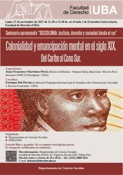 Colonialidad y emancipación mental en el siglo XIX del Caribe al cono sur